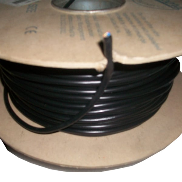 3 Core black mains cable x 100m