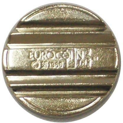 22.3 x 1.7mm double groove steel security token - 4mm spacing