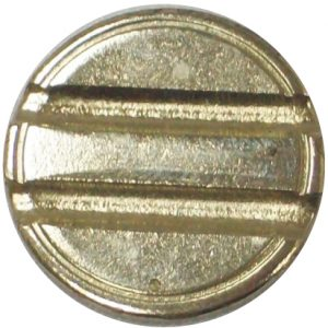 Nickel-plated steel 4mm double slot security token