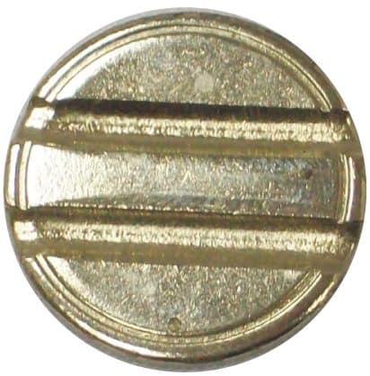 Nickel-plated steel 4mm double slot security token