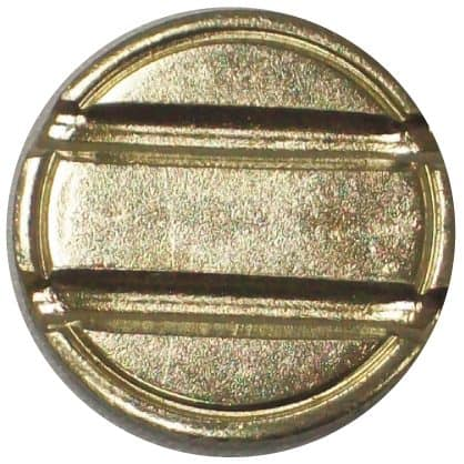 Nickel-plated steel 6mm double slot security token