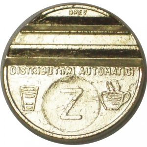 27.8mm single slotted silver token