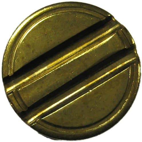 22.3 x 1.7mm security token with 2mm double grooves