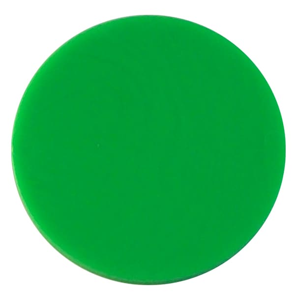Plain plastic token - Green