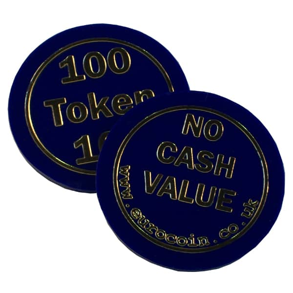 """100"" 38mm Blue token"