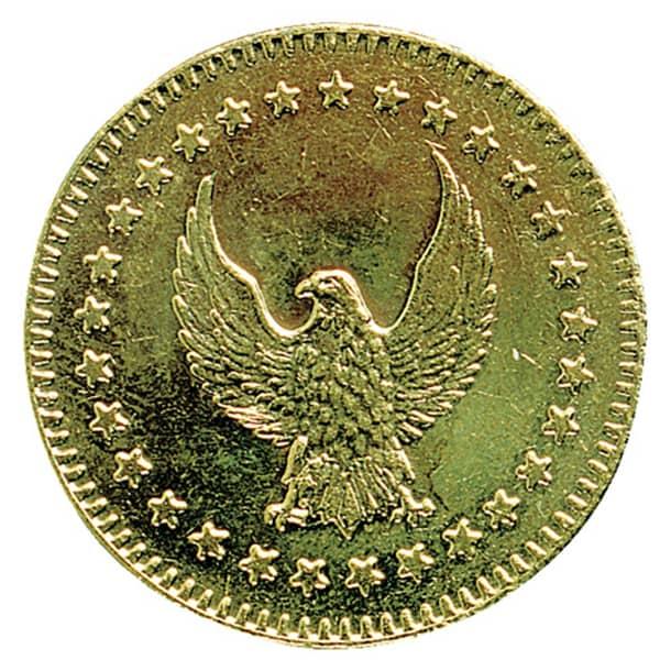 28.5mm Brass Eagle token