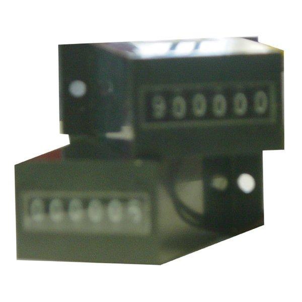 6 digit non-resetable basemount meter 12VDC