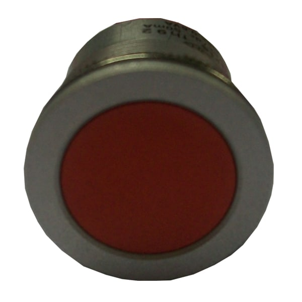 Anti-vandal red Faston pushbutton
