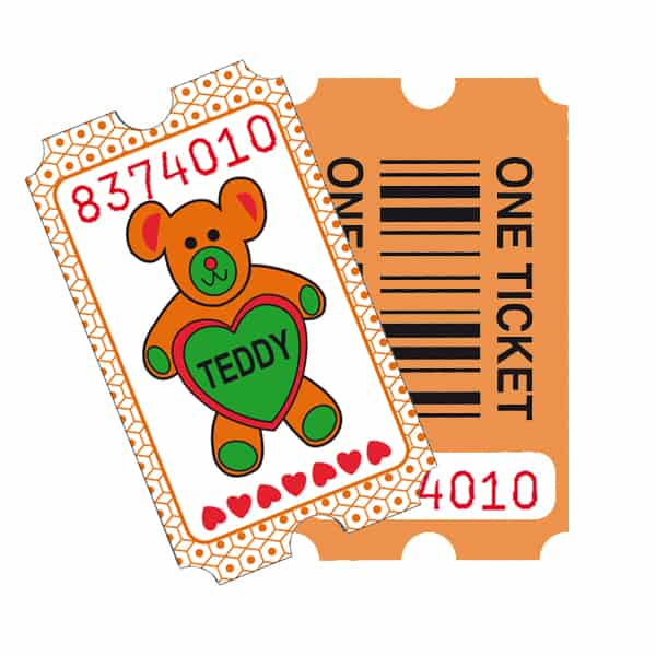 Redemption Tickets - Stock Design TEDDY x 2000