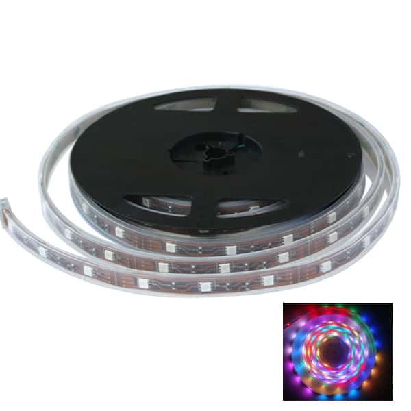 LED flexible Light Strip RGB - 15 X LED per 300mm 12VDC 4.8m roll