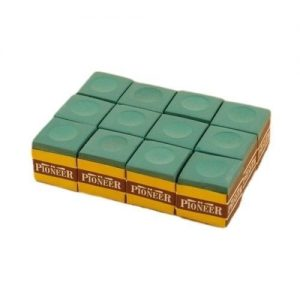 green Pioneer snooker pool billiards cue Chalk