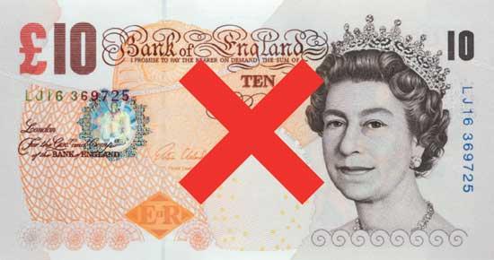 old ten pound note