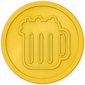 plastic-tokens-beer-tokens-yellow