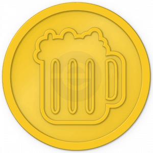 plastic-tokens-beer-tokens-yellow