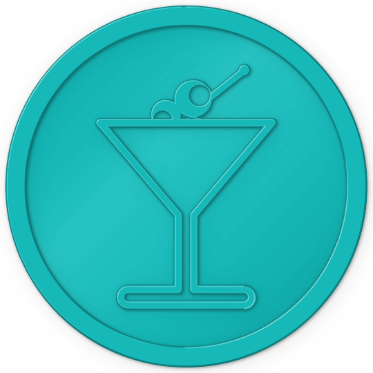 plastic tokens - cocktail token Turquoise