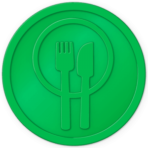 plastic tokens - food token Light Green