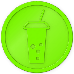 plastic tokens - soft drink token Flo green
