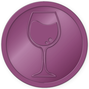 plastic tokens - wine token Metalic purple