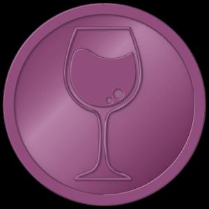 plastic tokens - wine token Metalic purple