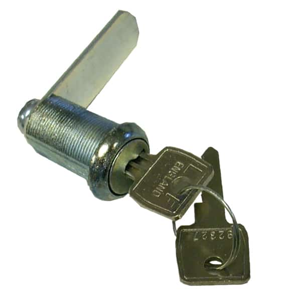 27mm Flatkey lock with 2 keys and 45mm cam.