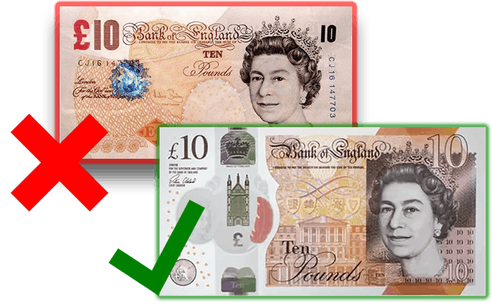 new vs old ten pound note