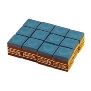 blue Pioneer snooker pool billiards cue Chalk