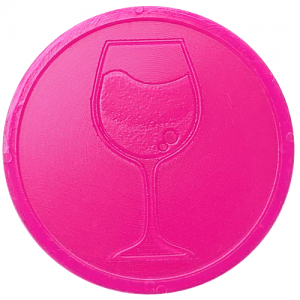 bright pink wine embossed tokens bag of 100 both sides 29mm diameter custom counter chips chip