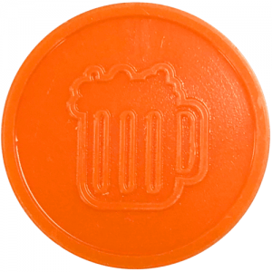 orange beer drink pint party events embossed tokens bag of 100