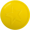 yellow star embossed tokens bag of 100 both sides 29mm diameter custom counter chips chip