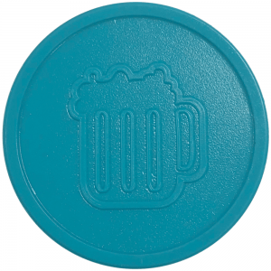 aqua blue turquoise beers drink pint party events embossed tokens bag of 100