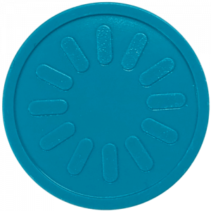 aqua blue sunburst party events embossed tokens bag of 100
