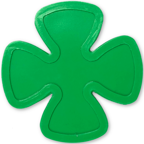 four leaf clover shamrock irish st paddys day st patricks day green plastic token party events embossed tokens bag of 100