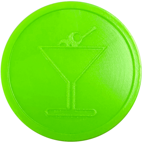 lime neon bright green cocktail drink glass party events embossed tokens bag of 100