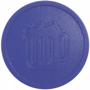 purple beer drink pint party events embossed tokens bag of 100