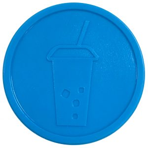 aqua light blue turquoise soft fizzy drink pint party events embossed tokens bag of 100