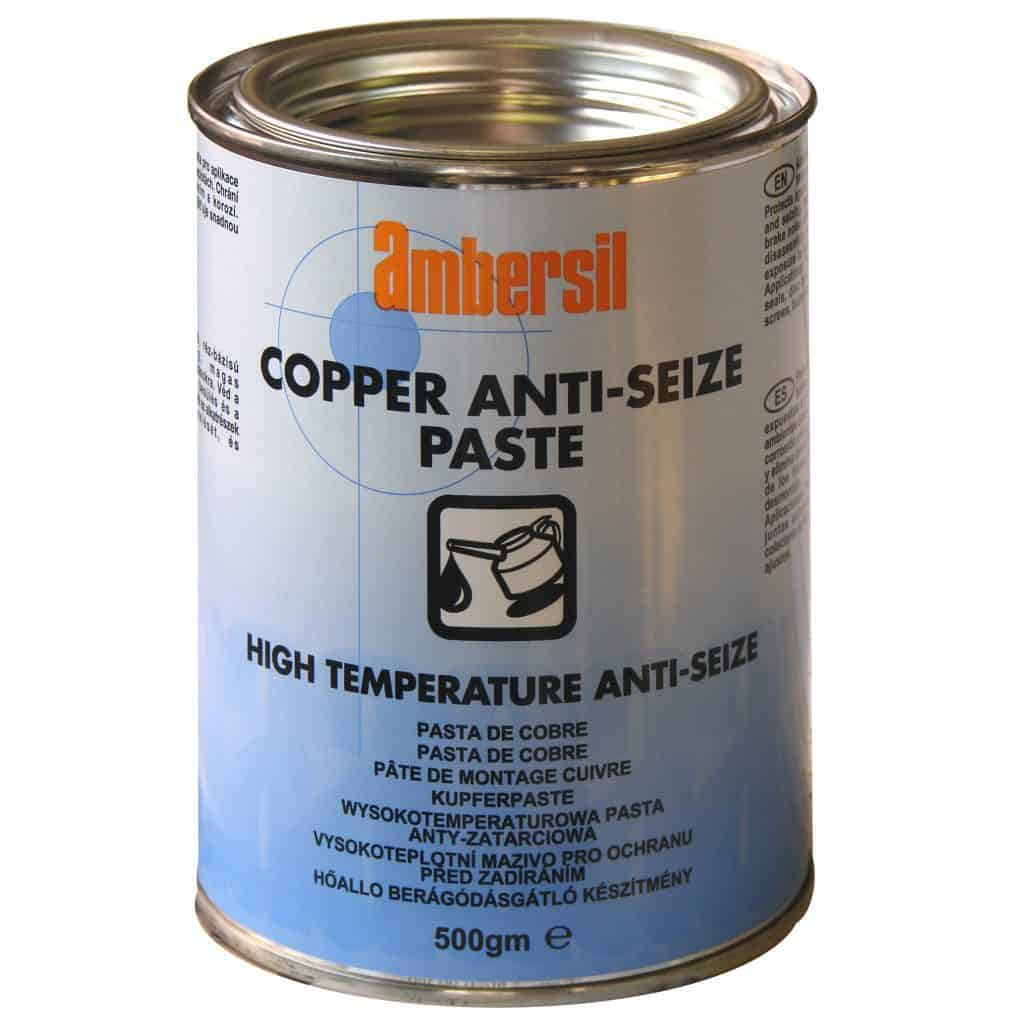 ambersil copper anti seize paste 500g high temperature. Black Bedroom Furniture Sets. Home Design Ideas