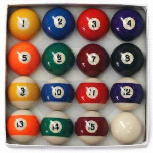 Striped pool balls