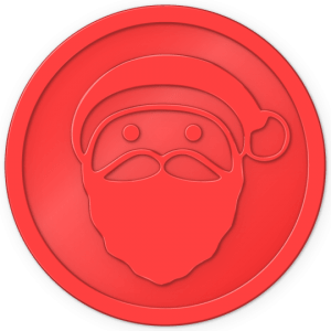 plastic tokens - santa token Red
