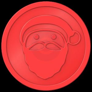 plastic tokens - santa token Red