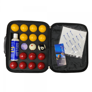 Red & Yellow Snooker Pool Ball Set