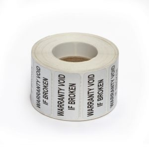 ABC LABELS WARRANTY VOID IF BROKEN 50mm x 25mm VOID Labels - pack of 1000
