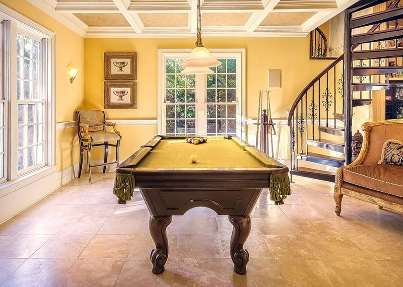 Gold-pool-table-cloth