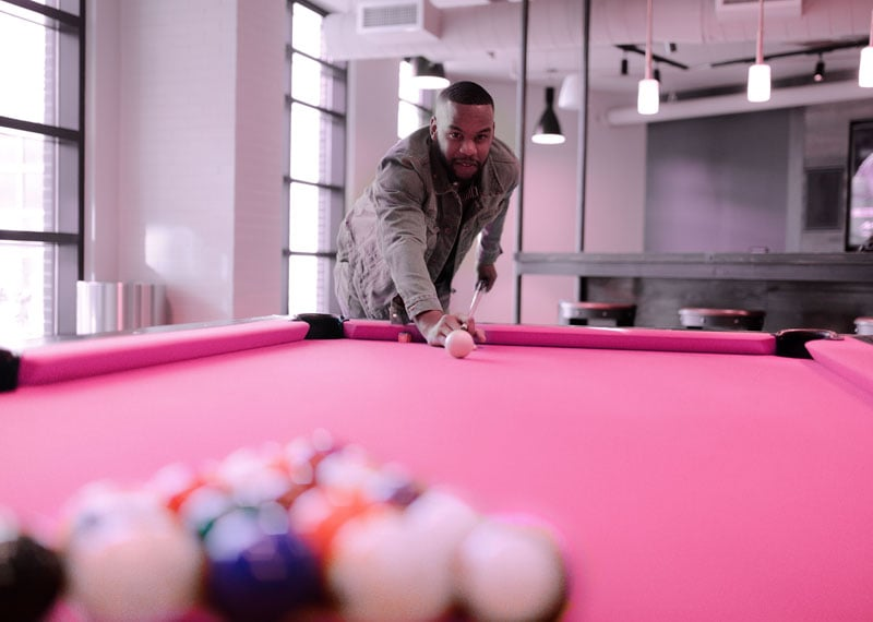 Magenta-pool-table-cloth