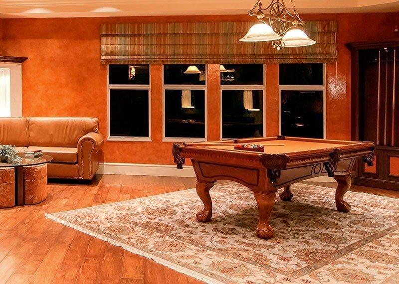 Orange-pool-table-cloth