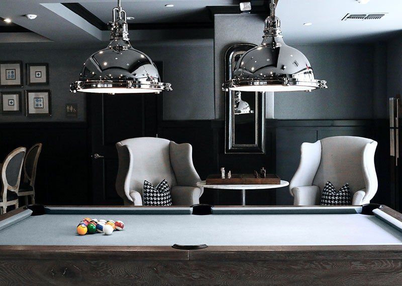 Silver-pool-table-cloth