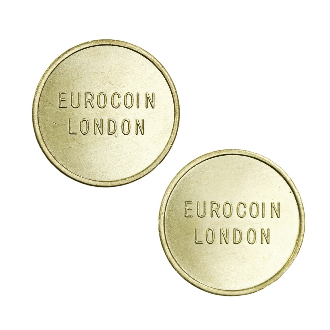 Eurocoin London Brass Coin Tokens – 27 8mm x 2 0mm (bag of 250)