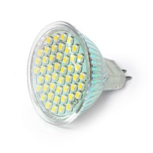 MR16 - 48 SMD LED Chips, 3.5W LEDs, Day White, High Brightness, 50W Replacement, 12-24V