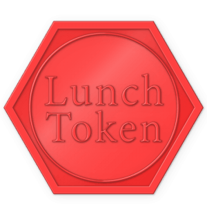 hexagon plastic token - lunch token Red
