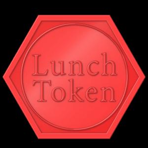 hexagon plastic token - lunch token Red