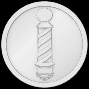 plastic tokeplastic tokens - barber token Whitens - barber token White